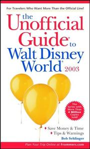 Cover of: The Unofficial Guide to Walt Disney World 2003