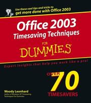 Cover of: Office 2003: timesaving techniques for dummies