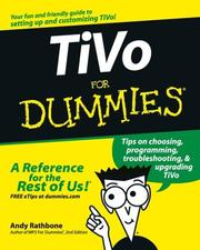 Cover of: TiVo for dummies