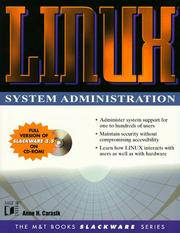 Cover of: Linux system administration | Anne H. Carasik