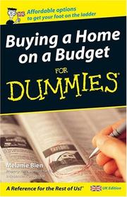 Cover of: Buying a Home on a Budget for Dummies | Melanie Bien