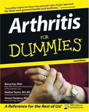 Cover of: Arthritis for Dummies by Barry Fox, Nadine Taylor, Jinoos Yazdany
