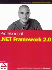 Cover of: Professional .NET framework 2.0 | Joe Duffy
