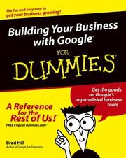 Cover of: Building Your Business with Google For Dummies