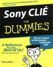 Cover of: Sony Clié for dummies
