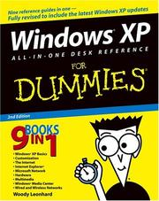 Cover of: Windows XP All-in-One Desk Reference For Dummies