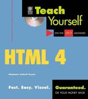Cover of: Teach Yourself® HTML 4