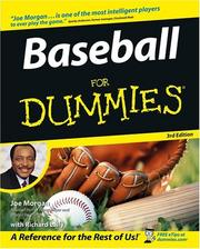 Cover of: Baseball for dummies