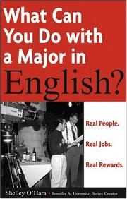 Cover of: What can you do with a major in English?