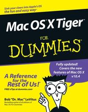 Cover of: Mac OS X Tiger for dummies