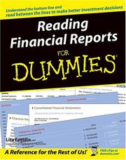 Cover of: Reading financial reports for dummies | Lita Epstein