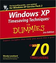 Cover of: Windows XP timesaving techniques for dummies