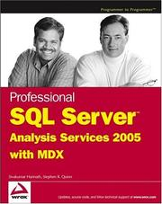 Cover of: Professional SQL server analysis services 2005 with MDX | Sivakumar Harinath