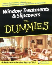 Cover of: Window Treatments & Slipcovers For Dummies (For Dummies (Sports & Hobbies)) | Mark Montano
