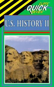 Cover of: U.S. History II (Cliffs Quick Review)