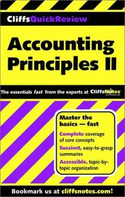 Cover of: Accounting Principles II (Cliffs Quick Review)