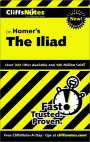 Cover of: CliffNotes on Homer