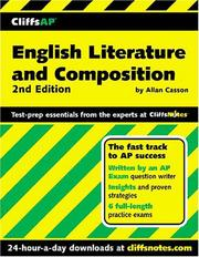 Cover of: CliffsAP English literature and composition | Allan Casson