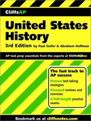 Cover of: CliffsAP United States history