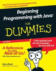 Cover of: Beginning Programming with Java For Dummies | Barry Burd