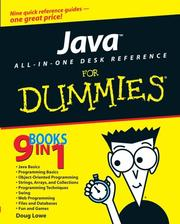 Cover of: Java all-in-one desk reference for dummies