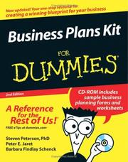 Cover of: Business Plans Kit For Dummies (For Dummies (Business & Personal Finance)) | Steven D., PhD Peterson