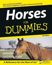 Cover of: Horses For Dummies | Audrey Pavia