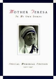 Cover of: Mother Teresa, in my own words