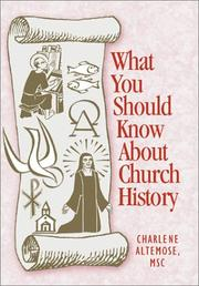 Cover of: What You Should Know About Church History (What You Should Know About... Series)