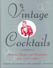 Cover of: Vintage cocktails: authentic recipes and illustrations from 1920-1960