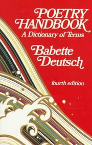 Cover of: Poetry Handbook | Babette Deutsch