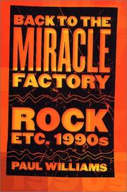Cover of: Back to the Miracle Factory