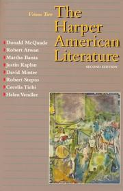 Cover of: The Harper American literature