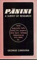 Cover of: Panini (A Survey of Research)