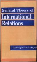 Cover of: A General Theory of International Relations