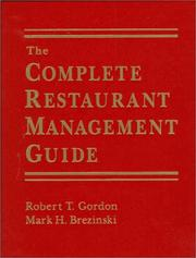 Cover of: The complete restaurant management guide