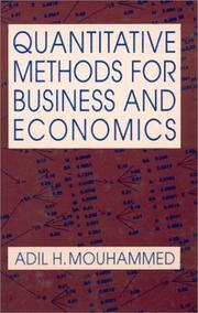 Cover of: Quantitative Methods for Business and Economics | Adil H. Mouhammed