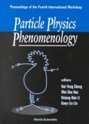 Cover of: Particle physics phenomenology