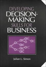Cover of: Developing Decisionmaking Skills for Business