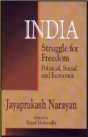 Cover of: India ; Struggle for Freedom, Political, Social and Economic