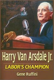 Cover of: Harry Van Arsdale, Jr | Gene Ruffini