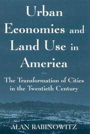 Cover of: Urban Economics and Land Use in America