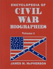 Cover of: Encyclopedia of Civil War Biographies.