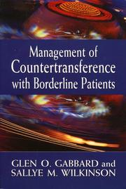 Cover of: Management of countertransference with borderline patients