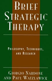 Cover of: Brief Strategic Therapy | Nardone Giorgio