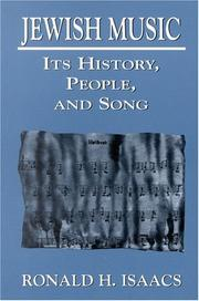 Cover of: Jewish music: its history, people, and song