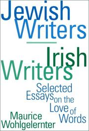 Cover of: Jewish writers/Irish writers