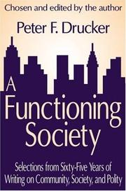 Cover of: A Functioning Society | Peter Drucker