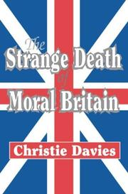 Cover of: The Strange Death of Moral Britain