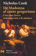Cover of: De Madonna al canto gregoriano/ Music